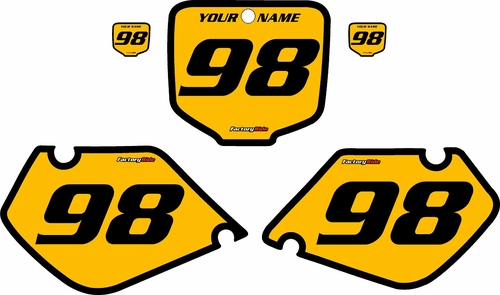 1998-1999 Honda CR125 Pre-Printed Backgrounds Yellow - Black Bold Pinstripe by FactoryRide