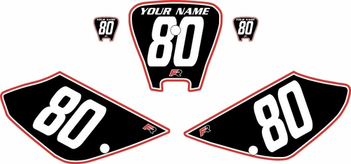 2001-2003 Honda XR100 Pre-Printed Backgrounds Black - Red Pro Pinstripe by FactoryRide