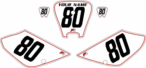 2001-2003 Honda XR100 Pre-Printed Backgrounds White - Red Pinstripe by FactoryRide