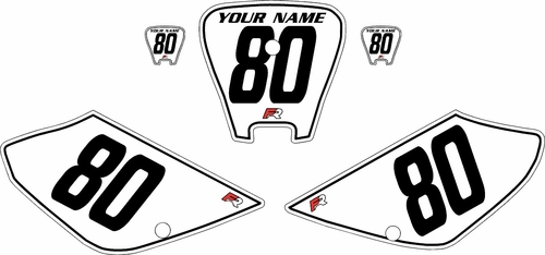 2001-2003 Honda XR100 Pre-Printed Backgrounds White - Black Pinstripe by FactoryRide