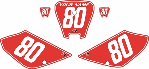 2001-2003 Honda XR100 Pre-Printed Backgrounds Red - White Pinstripe by FactoryRide