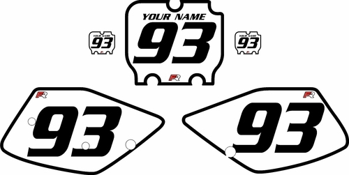 1992-1993 Kawasaki KX250 White Pre-Printed Backgrounds - Black Bold Pinstripe by Factory Ride