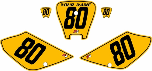 2001-2003 Honda XR100 Pre-Printed Backgrounds Yellow - Black Pinstripe by FactoryRide