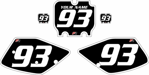 1992-1993 Kawasaki KX250 Black Pre-Printed Backgrounds - White Bold Pinstripe by Factory Ride