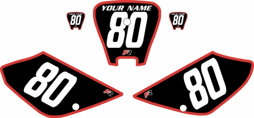 2001-2003 Honda XR100 Pre-Printed Backgrounds Black - Red Bold Pinstripe by FactoryRide