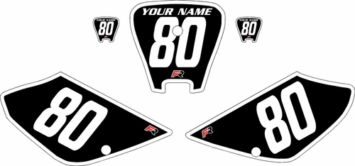 2001-2003 Honda XR100 Pre-Printed Backgrounds Black - White Bold Pinstripe by FactoryRide