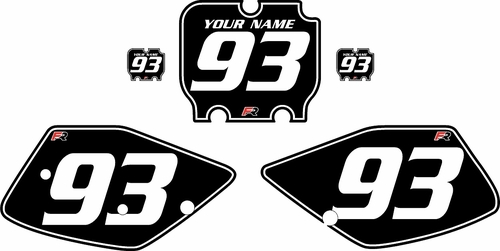 1992-1993 Kawasaki KX250 Black Pre-Printed Backgrounds - White Pinstripe by Factory Ride