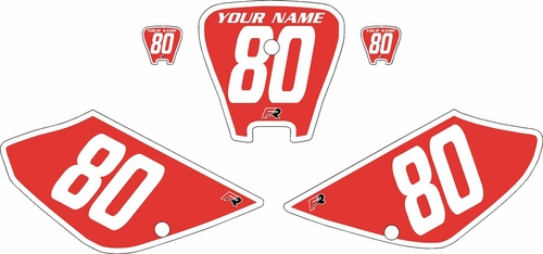 2001-2003 Honda XR100 Pre-Printed Backgrounds Red - White Bold Pinstripe by FactoryRide
