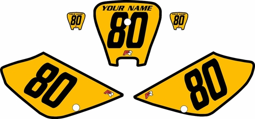 2001-2003 Honda XR100 Pre-Printed Backgrounds Yellow - Black Bold Pinstripe by FactoryRide