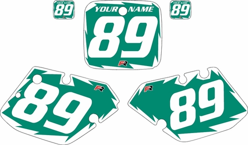 1989-1990 Yamaha YZ125 Custom Pre-Printed Green Background - White Shock Series by Factory Ride