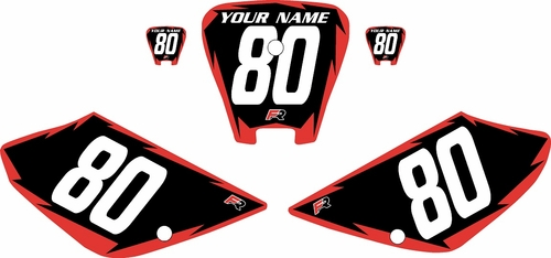 2001-2003 Honda XR100 Pre-Printed Backgrounds Black - Red Shock Series by FactoryRide