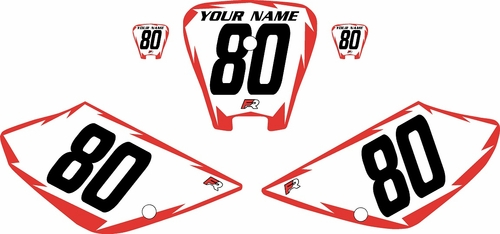 2001-2003 Honda XR100 Pre-Printed Backgrounds White - Red Shock Series by FactoryRide