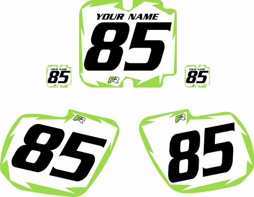 1985-1986 Kawasaki KX500 Custom Pre-Printed Background White - Green Shock Series by Factory Ride