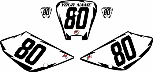2001-2003 Honda XR100 Pre-Printed Backgrounds White - Black Shock Series by FactoryRide