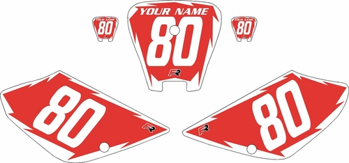 2001-2003 Honda XR100 Pre-Printed Backgrounds Red - White Shock Series by FactoryRide