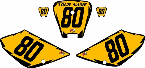 2001-2003 Honda XR100 Pre-Printed Backgrounds Yellow - Black Shock Series by FactoryRide