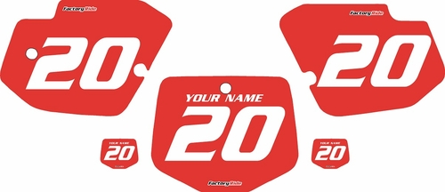 1996-2004 Kawasaki KX500 Custom Pre-Printed Red Background - White Numbers by Factory Ride