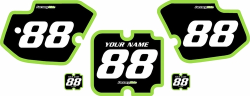 1988-1989 Kawasaki KX250 Custom Pre-Printed Background Black - Green Bold Pinstripe by Factory Ride