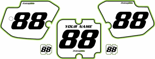 1988-1989 Kawasaki KX250 Custom Pre-Printed Background White - Green Pro Pinstripe by Factory Ride