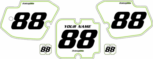 1988-1989 Kawasaki KX250 Custom Pre-Printed Background White - Green Pinstripe by Factory Ride