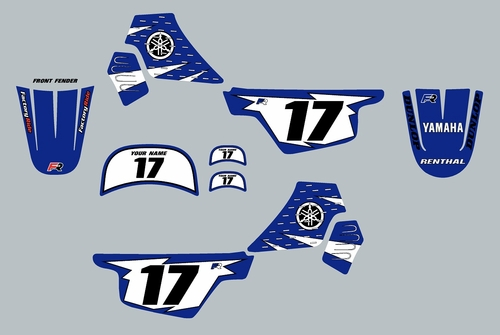 Yamaha PW50 Blue Graphics kit Decals by Factory Ride