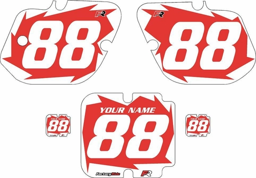 1987 Kawasaki KX250 Custom Pre-Printed Background Red - White Shock Series by Factory Ride