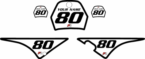 1996-2013 Yamaha PW80 White Pre-Printed Background - Black Bold Pinstripe by Factory Ride