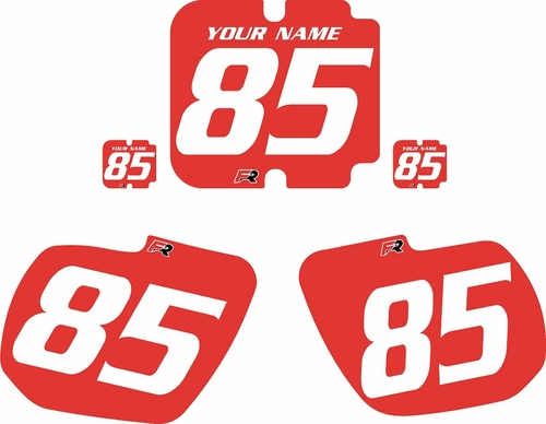1985-1986 Kawasaki KX250 Custom Pre-Printed Background Red - White Numbers by Factory Ride