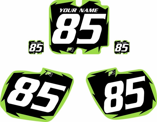 1985-1986 Kawasaki KX500 Custom Pre-Printed Background Black - Green Shock Series by Factory Ride