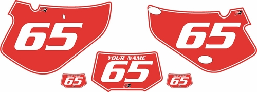 2000-2009 Honda XR650R Pre-Printed Backgrounds Red - White Pinstripe by FactoryRide