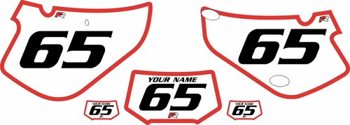 2000-2009 Honda XR650R Custom White Pre-Printed Background - Red Bold Pinstripe by Factory Ride