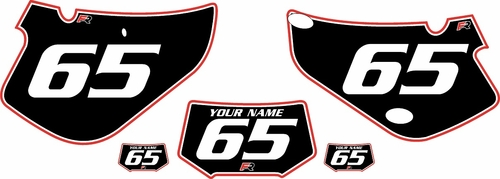 2000-2009 Honda XR650R Pre-Printed Backgrounds Black - Red Pro Pinstripe by FactoryRide