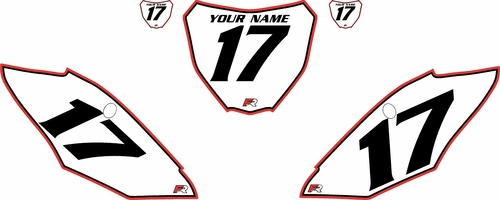 2017-2020  Honda CRF450 R Pre-Printed Backgrounds White - Red Pro Pinstripe by Factory Ride