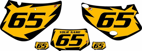 2000-2009 Honda XR650R Pre-Printed Backgrounds Yellow - Black Shock Series by FactoryRide
