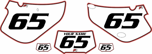 2000-2009 Honda XR650R Pre-Printed Backgrounds White - Red Pro Pinstripe by FactoryRide