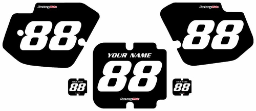 1988-1989 Kawasaki KX250 Custom Pre-Printed Black Background - White Numbers by Factory Ride