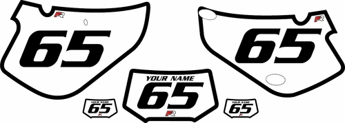 2000-2009 Honda XR650R White Pre-Printed Background - Black Bold Pinstripe by FactoryRide