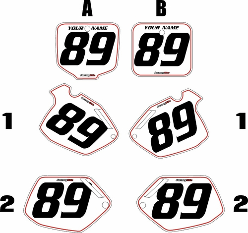 1991-2001 Honda CR500 Pre-Printed Backgrounds White - Red Pinstripe by FactoryRide