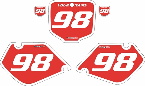 1998-1999 Honda CR125 Pre-Printed Backgrounds Red - White Bold Pinstripe by FactoryRide