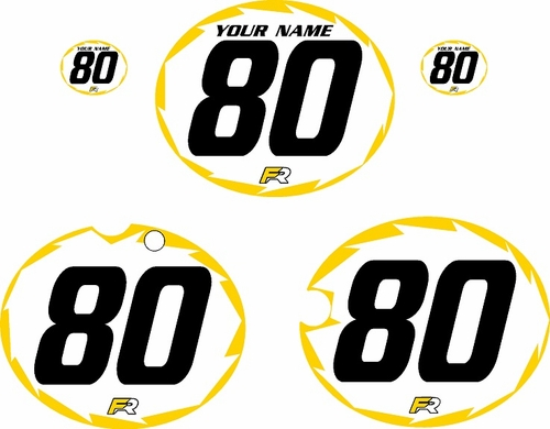 1980-1981 Yamaha YZ250 Custom Pre-Printed White Background - Yellow Shock-Series by Factory Ride