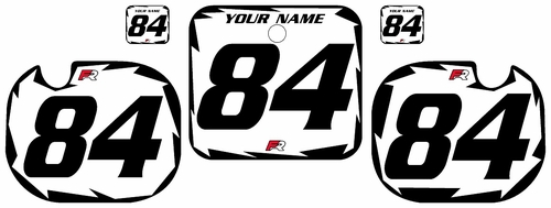 1984 Honda CR500 White Pre-Printed Backgrounds - Black Shock Series by Factory Ride
