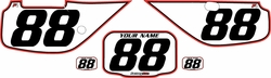 Fits Honda XR600 1988-2001 Pre-Printed Backgrounds White - Red Pro Pinstripe by FactoryRide