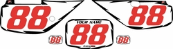 Fits Honda XR600 1988-2001 Pre-Printed Backgrounds White - Black Shock - Red Numbers by FactoryRide