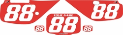 Fits Honda XR600 1988-2001 Pre-Printed Backgrounds Red - White Numbers by FactoryRide