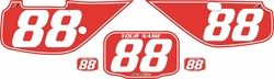 Fits Honda XR600 1988-2001 Pre-Printed Backgrounds Red - White Pinstripe by FactoryRide
