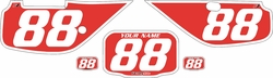 Fits Honda XR600 1988-2001 Pre-Printed Backgrounds Red - White Bold Pinstripe by FactoryRide