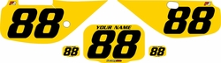 Fits Honda XR600 1988-2001 Pre-Printed Backgrounds Yellow - Black Numbers by FactoryRide