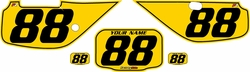 Fits Honda XR600 1988-2001 Pre-Printed Backgrounds Yellow - Black Pinstripe by FactoryRide