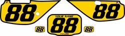 Fits Honda XR600 1988-2001 Pre-Printed Backgrounds Yellow - Black Bold Pinstripe by FactoryRide