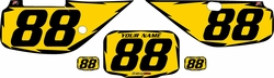 Fits Honda XR600 1988-2001 Pre-Printed Backgrounds Yellow - Black Shock by FactoryRide